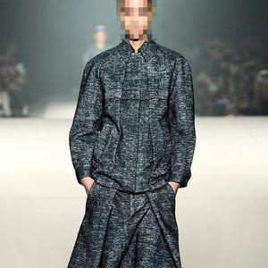 ALEXANDER WANG charcoal grey folded greyser jacket