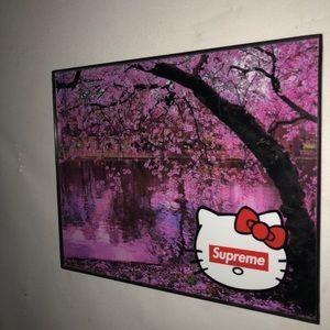Supreme art print with borderless frame