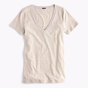 J. Crew  V-neck T-shirt in Slub Cotton Size XS