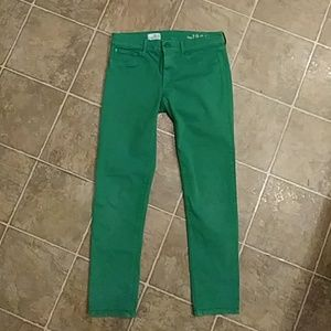 Woman's green GAP The Legging ankle Jeans 26 / 2
