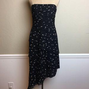 Kay Unger tiered silk strapless dress