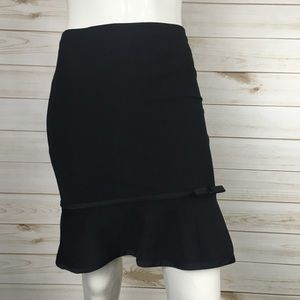 Express Black Trumpet Career Pencil Skirt