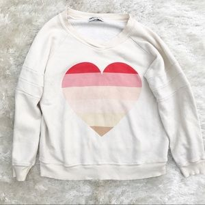 WILDFOX Oversized Heart Sweatshirt