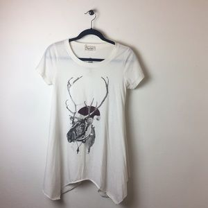 paper doll topshop reindeer t-shirt london small