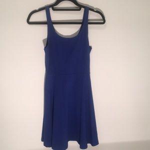 Dark blue dress.