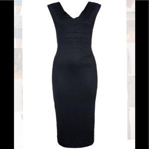 TWIN-SET Simona Barbieri Deep-V Hourglass Dress