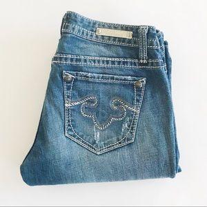 "Express Rerock bootcut jeans 2R x 34"""