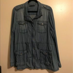 EUC Maurices denim Utility jacket.  Size 2x