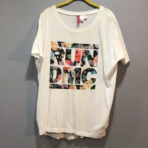 Women's Oversized H&M Small RUN DMC White Shirt