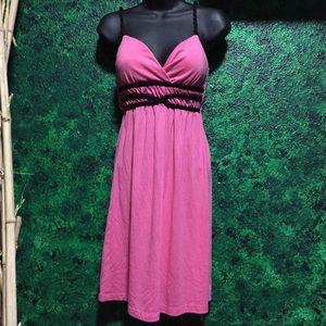 Stylish rope design pink dress