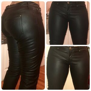 H& M Faux Leather Stretch Pants (size 12)
