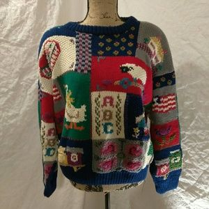 Vintage, knitted by hand.