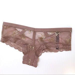 New Victoria's Secret Shine Chantilly Cheeky Panty