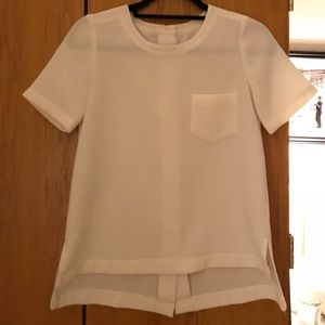 Madewell High Low Blouse