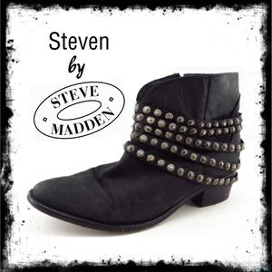 Steven by Steve Madden Janne Studded Ankle Boots
