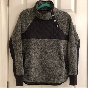 Abercrombie and Fitch Asymmetrical Snap Pullover