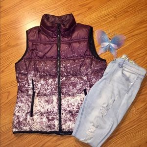 Speckled Purple Puffer Vest