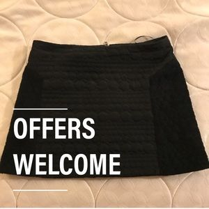 Topshop Quilted Mini Skirt