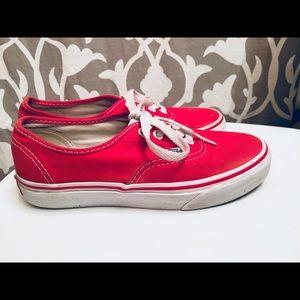 Red. Vans.