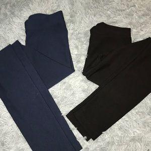 H&M LEGGING PANT NAVY&BLACK SET OF TWO