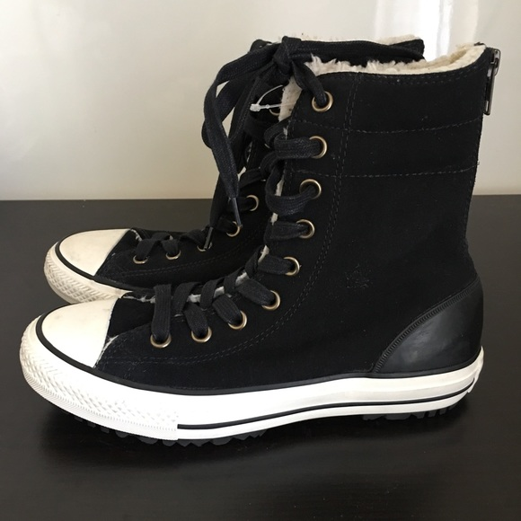 converse fur lined boots