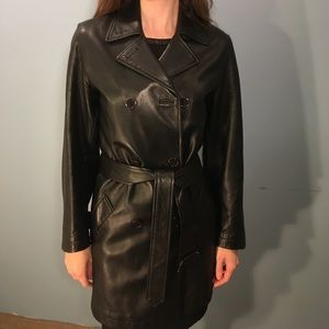 Coach Leather Trench Coat Size XS