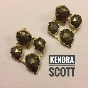 Kendra Scott 4 stone gold/pyrite post Earrings