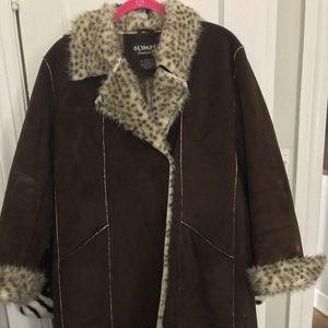 Like new faux suede winter coat