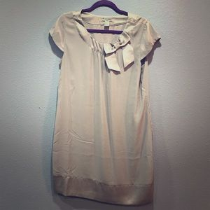 H&M Women's Size 12 Cream Casual Career Bow Top