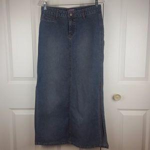 Dresses & Skirts - Bubblegum long denim jean skirt