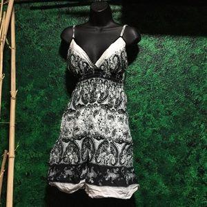 Black and white beautiful design dress