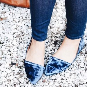 NWT🌿Pointy Velvet Flats d'Orsday Loafers Classic