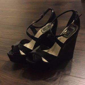 Christian Dior Black Wedges