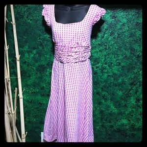 Hand sewn dress with matching new underwear small
