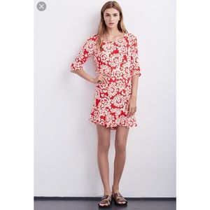 NWOT Velvet by Graham & Spencer Red Floral Dress