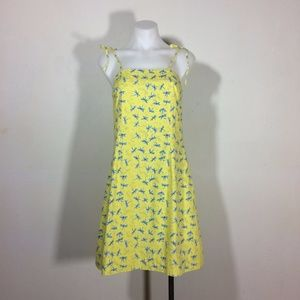 Lilly Pulitzer yellow cotton dragonfly sundress