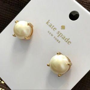 Kate Spade Pearl/Gold Gumdrop Earrings