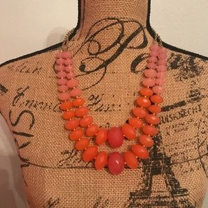 cookie lee orange and pink necklace