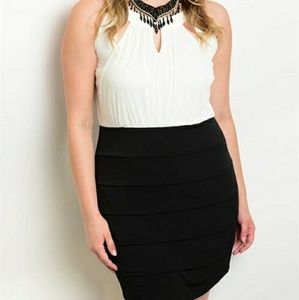 Dresses & Skirts - New White and Black Plus Size Dress