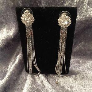New Genuine Crystal Tassel Earrings