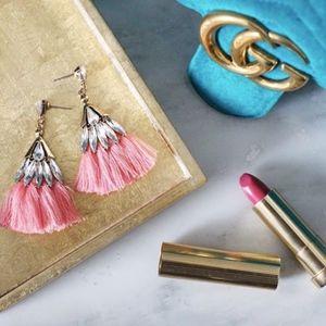 Coming Soon <3 Pink Crystal Fringe Earrings
