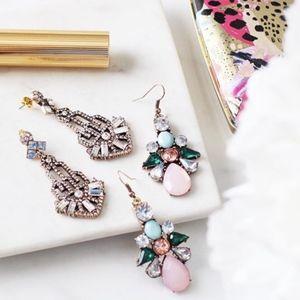 Coming Soon <3 Beautiful Pink Embellished Earrings