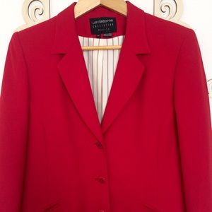 Red Suit Blazer by Liz Claiborne Collection
