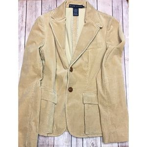 Ralph Lauren Cotton Blazer In Natural