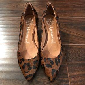 JEFFREY CAMPBELL Calf Hair Brea Kitten Heels