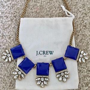 J. Crew Necklace Embellished Squares (Blue)