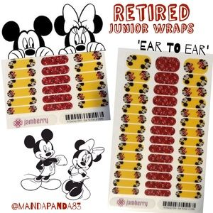 Micky & Minnie Retired Junior Jamberry Wraps
