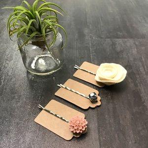 Set of 3 Bobby Pins Handmade