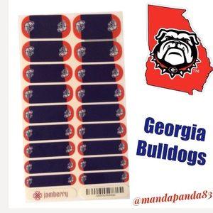 Jamberry Collegiate Georgia Bulldogs Nail Wraps