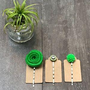 Set Of Three Hair Pins